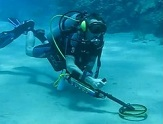 underwater treasure hunting or just in underwater metal detecting